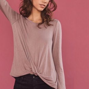 Anthropologie Twist-Front Agency Jersey Top Blouse